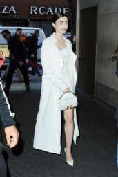 Lily Collins - Arriving at the Today Show in NYC 04/10/2019