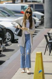 Lily Collins in Casual Attire 4/15/2019