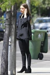 Lily Collins - Out in West Hollywood 04/18/2019