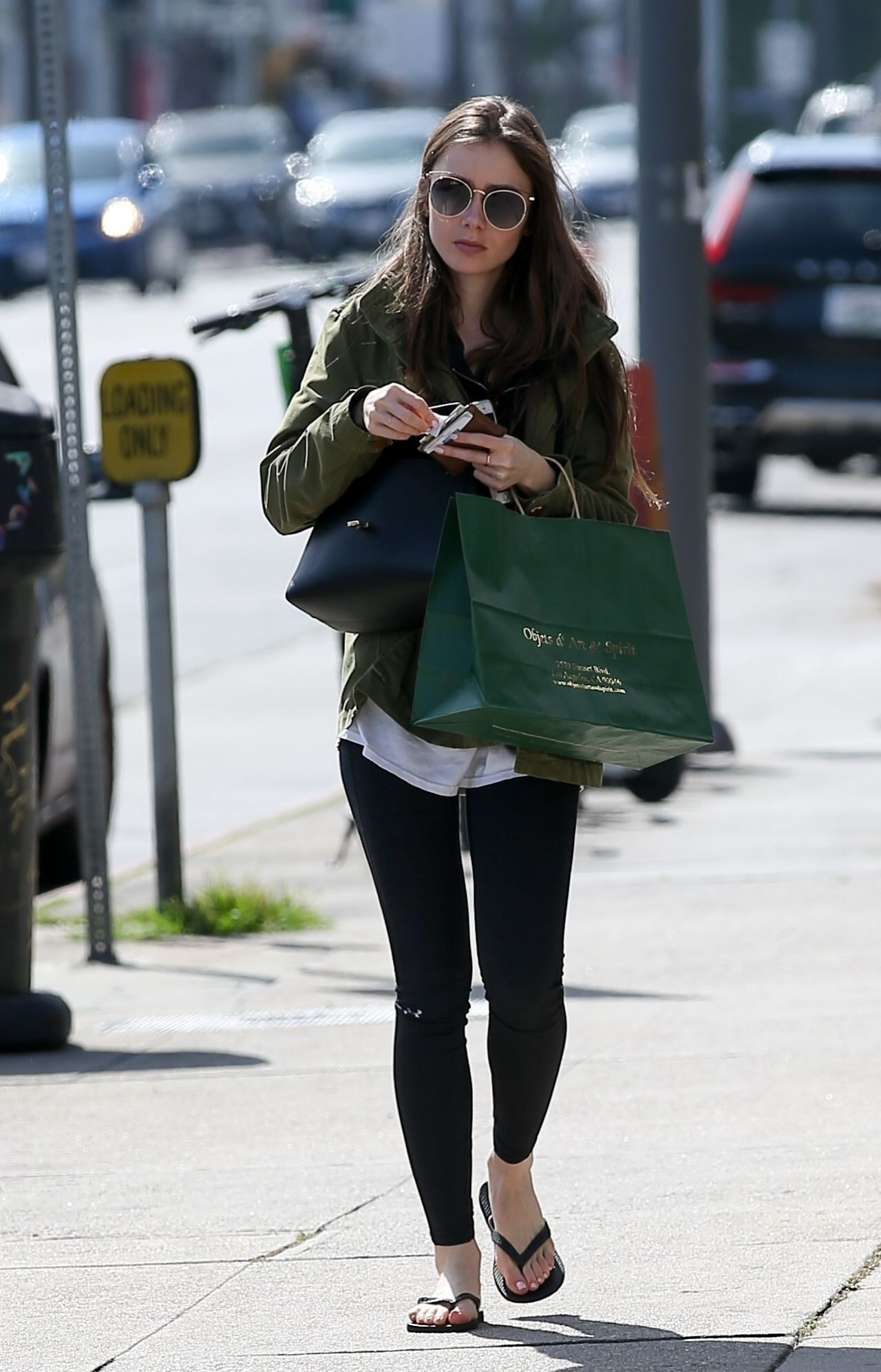 Lily Collins Shopping In Beverly Hills 04 14 2019