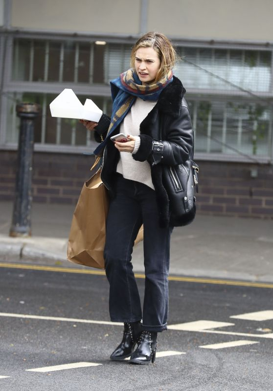 Lily James at a Studio in West London 04/04/2019