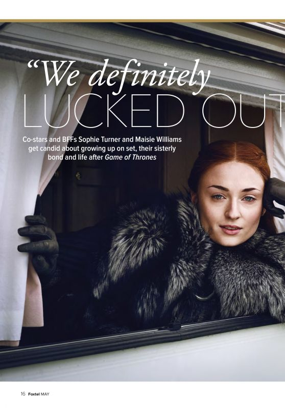 Maisie Williams and Sophie Turner - The Hollywood Reporter April 2019 Issue
