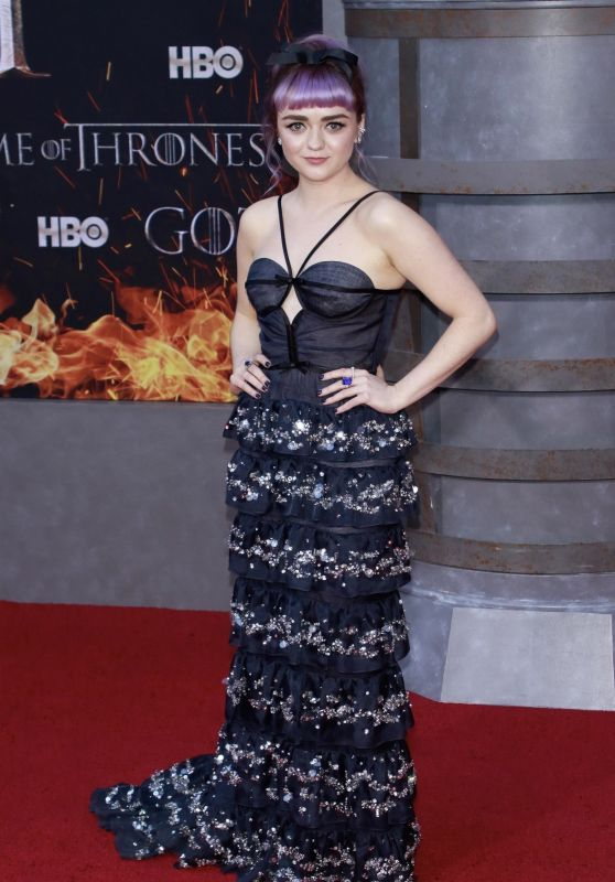 """Maisie Williams – """"Game of Thrones"""" Season 8 Premiere in NY"""