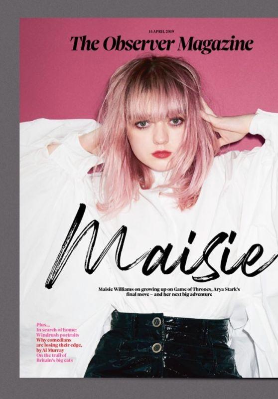 Maisie Williams - The Observer Magazine April 2019