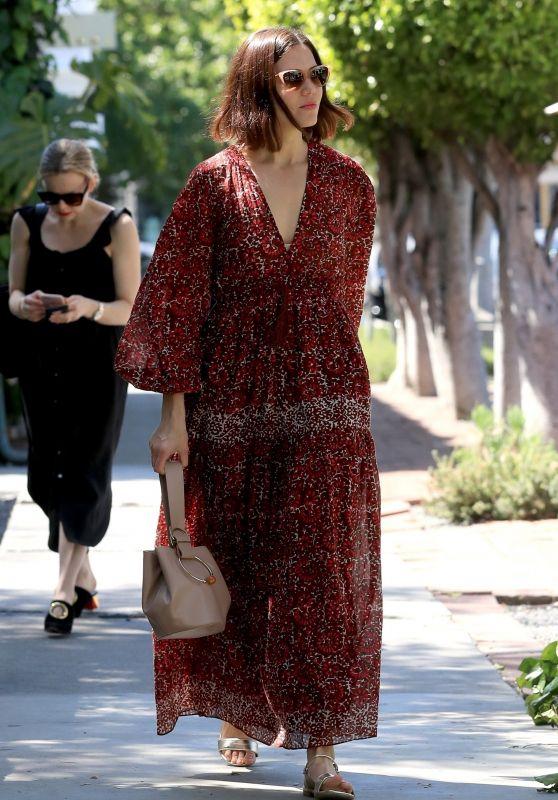Mandy Moore in Floral Print Dress 04/01/2019