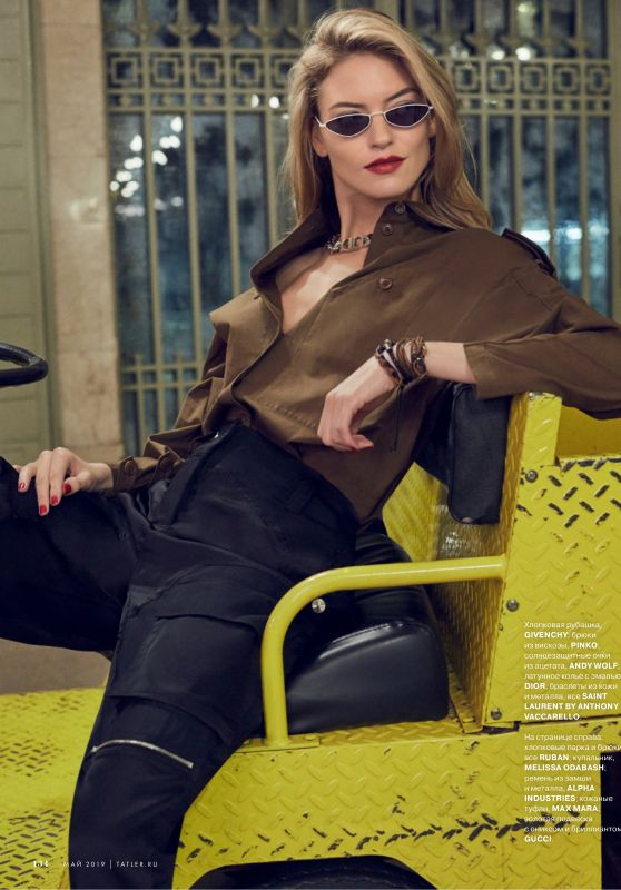 Martha Hunt - Tatler Russia May 2019 Issue