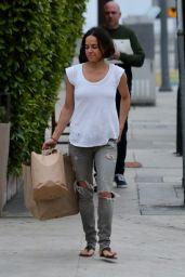 Michelle Rodriguez Make-up Free - Giorgio Baldi in Santa Monica 04/23/2019