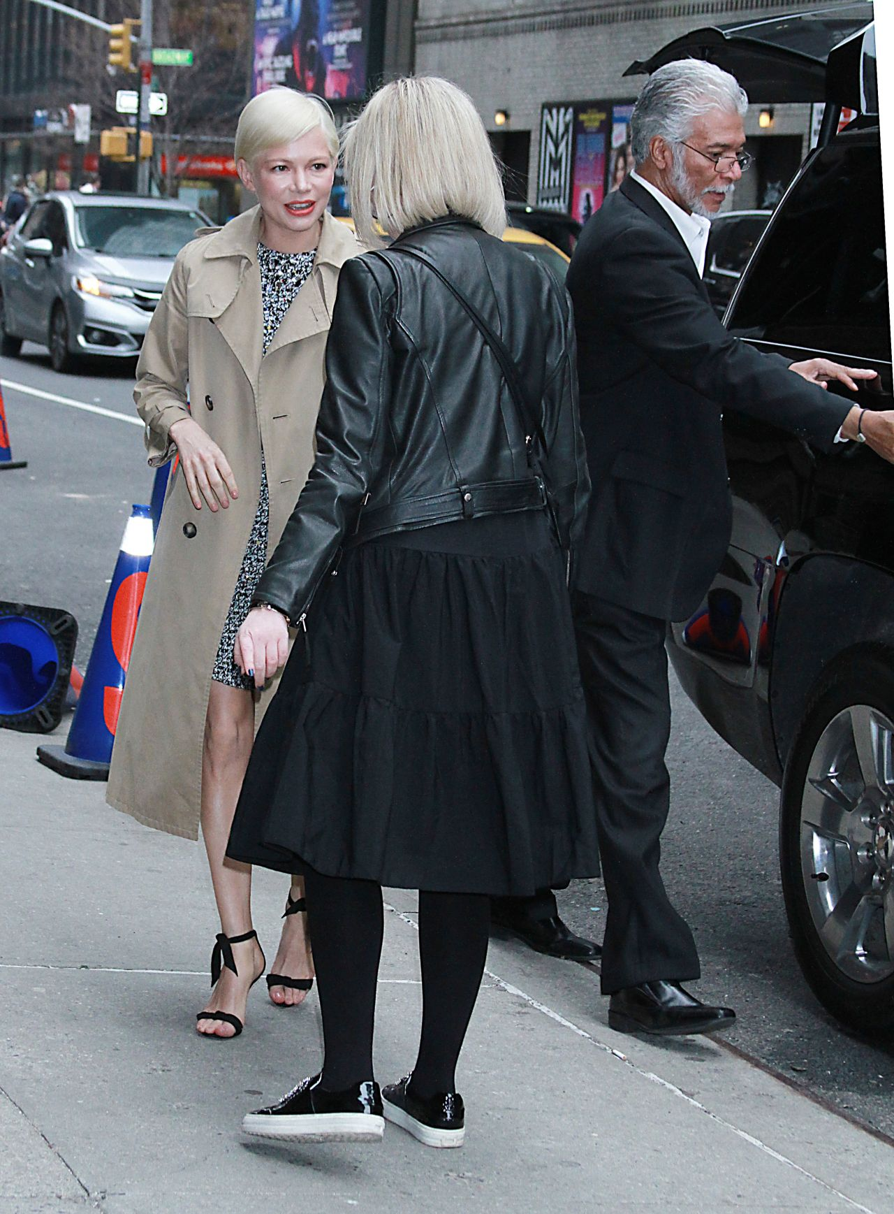 Michelle Williams Arriving At The Late Show With Stephen