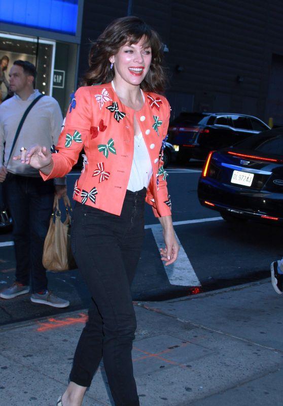 Milla Jovovich - Outside GMA in NYC 04/10/2019