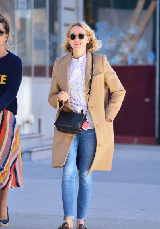 Naomi Watts Street Style - New York City 04/17/2019