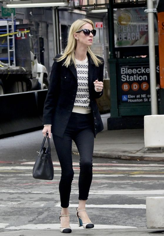 Nicky Hilton Office Chic Outfit - Heads to a Meeting in New York 04/08/2019