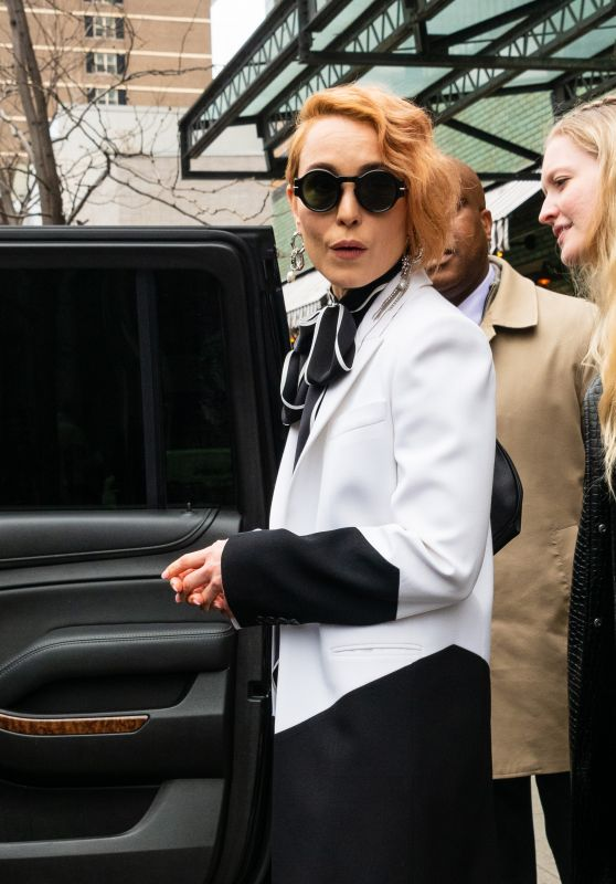 Noomi Rapace - Outside The Bowey Hotel in NYC 04/11/2019