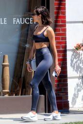 Olivia Culpo Sports Bra and Tights 04/18/2019