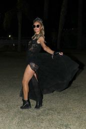 Paris Hilton in All Black - Coachella in Indio 04/14/2019