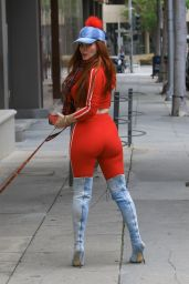 Phoebe Price - Takes Her Dog for a Walk in Beverly Hills 04/16/2019