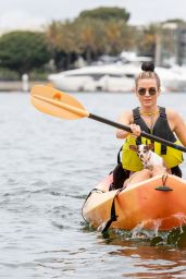 Rachel McCord in Bikini - Kayaking in Marina Del Rey 04/20/2019