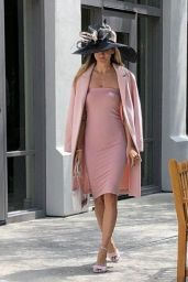 Rachel McCord in Pink - Arriving at Easter Sunday Service in Bel Air 04/21/2019