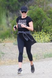 Reese Witherspoon - Jogging With Her Son in Brentwood 04/20/2019