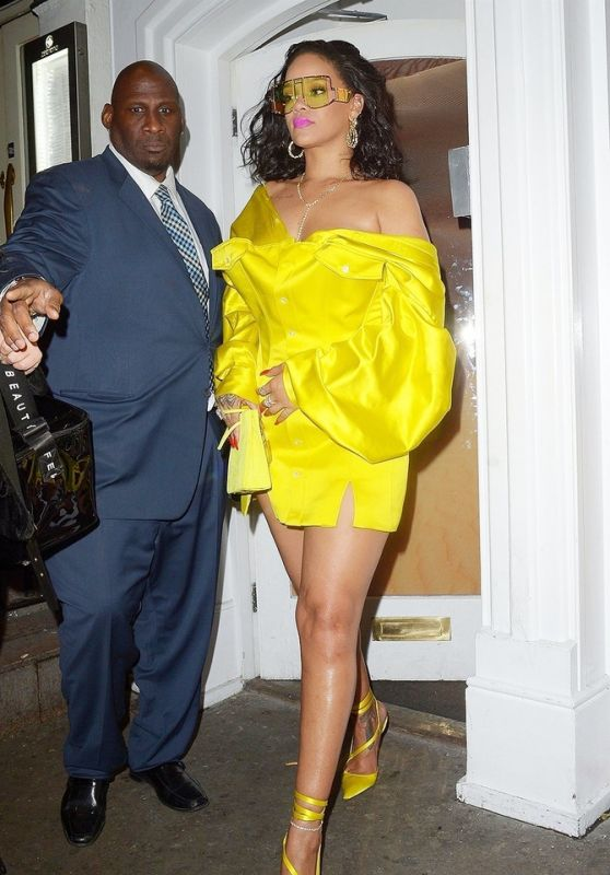 Rihanna - Leaving the Fenty Beauty Influencer Event in London 04/02/2019