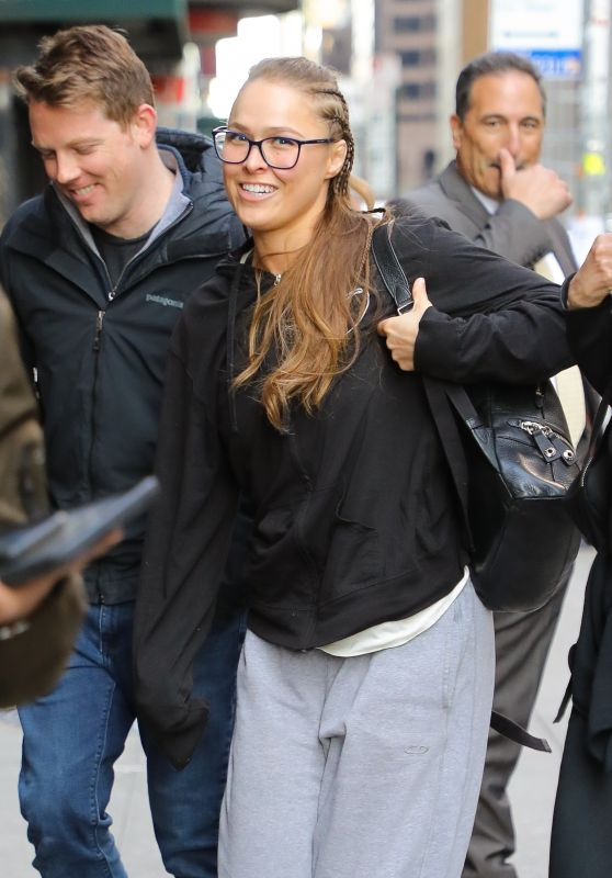 Ronda Rousey Arriving to Appear on The Late Show With Stephen Colbert in NYC 04/17/2019