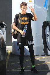 Ruby Rose Wearing an I conic Batman T-Shirt - LA 04/17/2019