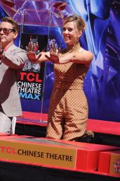 """Scarlett Johansson - """"Avengers: Endgame"""" Hand Print Ceremony in LA"""