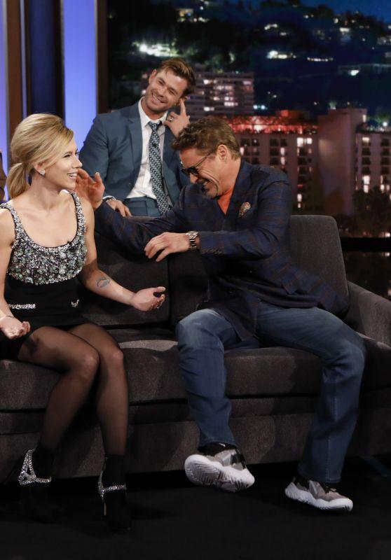 Scarlett Johansson, Robert Downey Jr., Paul Rudd and Chris Hemsworth - Jimmy Kimmel Live! 04/08/2019