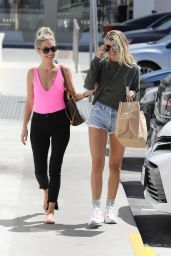 Sofia Richie in Jeans Shorts - Out With a Friend in Malibu 04/18/2019