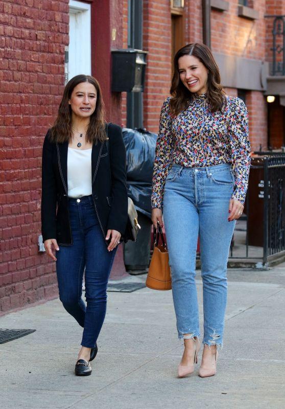 Sophia Bush and Ilana Glazer - Filming False Positive in New York 04/16/2019