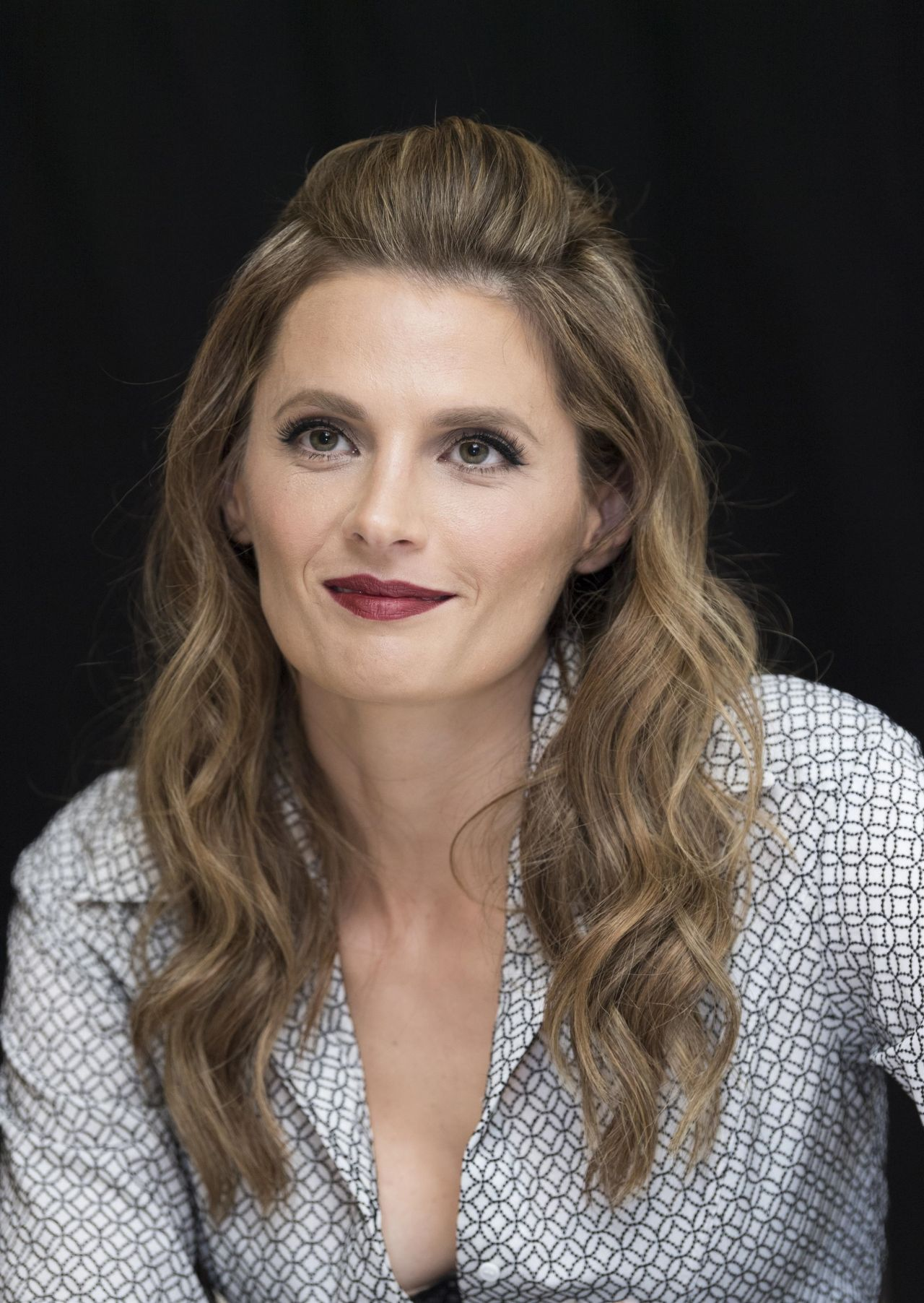 Stana Katic - Absentia Press Conference in Los Angeles
