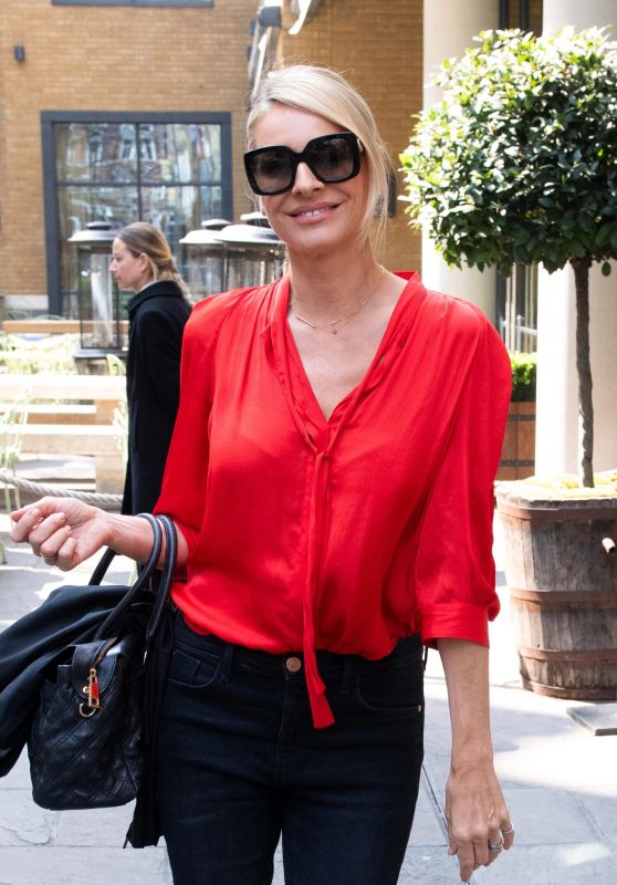 Tess Daly - Leaving Ham Yard Hotel in London 04/16/2019