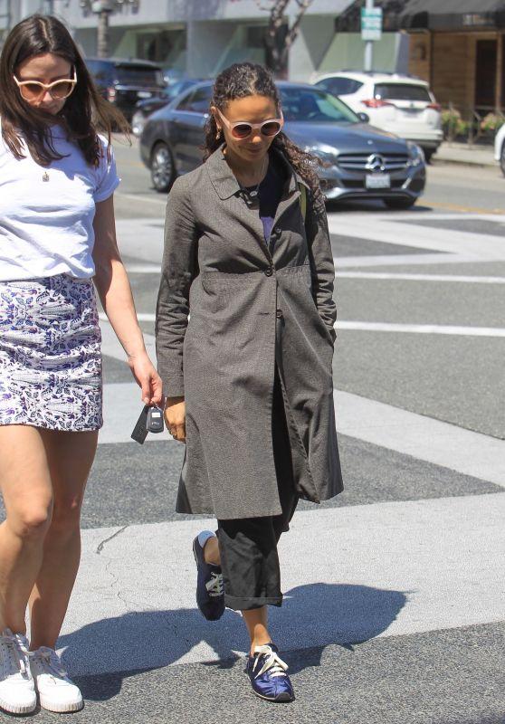 Thandie Newton Shops in Beverly Hills 04/01/2019