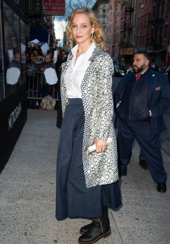 "Uma Thurman - Arriving at Netfix ""Chambers"" Premiere in NYC"