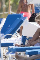 Victoria Silvstedt in Bikini Top on the Beach in Miami 04/02/2019