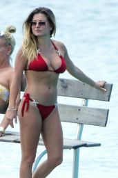 Zara Holland on the Beach in Barbados 04/09/2019