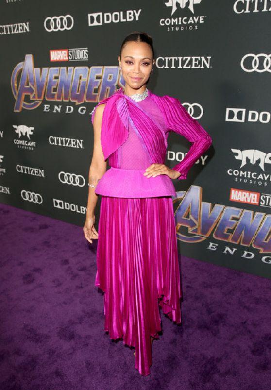 Zoe Saldana Avengers Endgame Premiere In LA