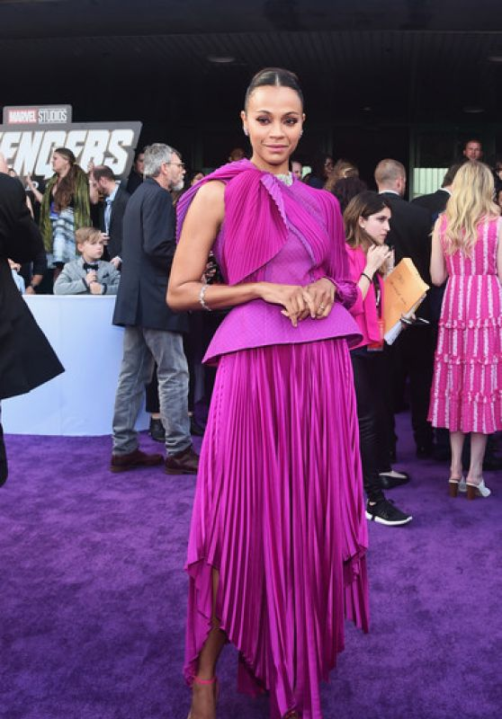 "Zoe Saldana – ""Avengers: Endgame"" Premiere in LA"