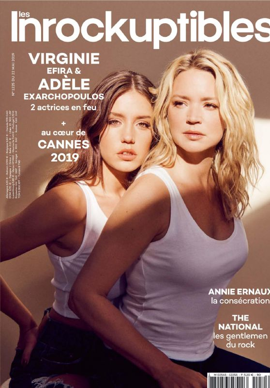 Adèle Exarchopoulos and Virginie Efira - Télécharger Les Inrockuptibles 05/22/2019