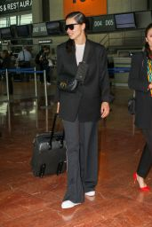 Adriana Lima in Travel Outfit - Nice Airport 05/24/2019