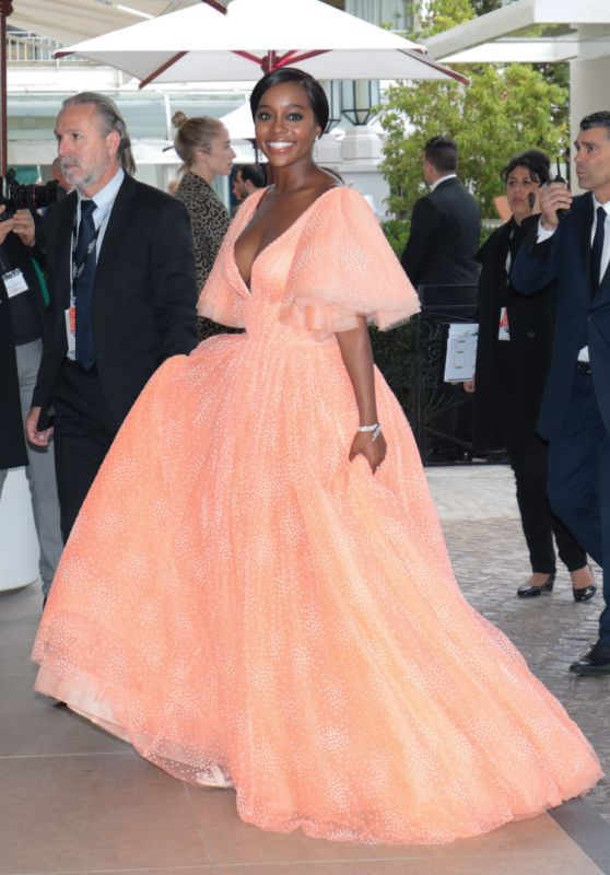 Aja Naomi King - Outside Hotel Martinez in Cannes 05/19/2019