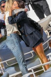 Amber Heard and Eva Longoria at the Martinez Beach in Cannes 05/16/2019