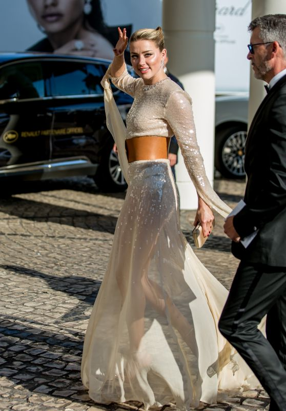 Amber Heard at the Martinez Hotel in Cannes 05/15/2019
