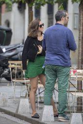 Ana de Armas in Mini Skirt - Madrid 05/23/2019
