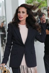 Andie MacDowell at the Martinez Hotel in Cannes 05/21/2019