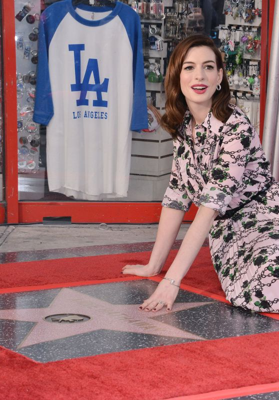 Anne Hathaway - Honored With a Star on the Hollywood Walk of Fame 05/09/2019