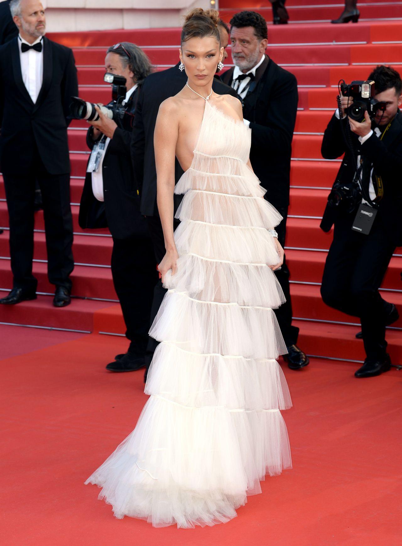Bella Hadid Rocketman Red Carpet At Cannes Film Festival