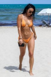Bre Tiesi in Bikini on the Beach in Miami 05/29/2019