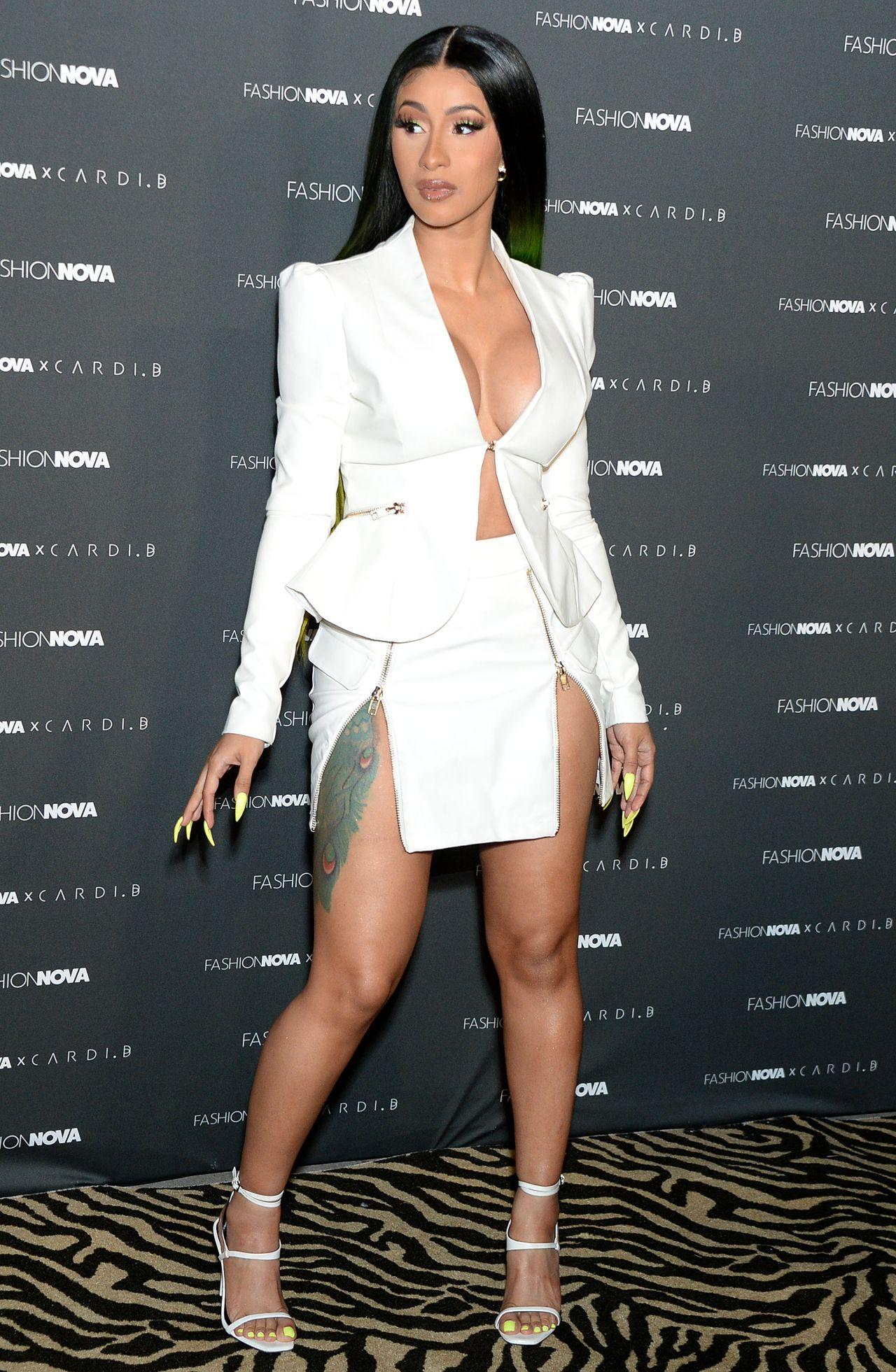 Cardi B No Clothing: Fashion Nova X Cardi B Collection Launch Event
