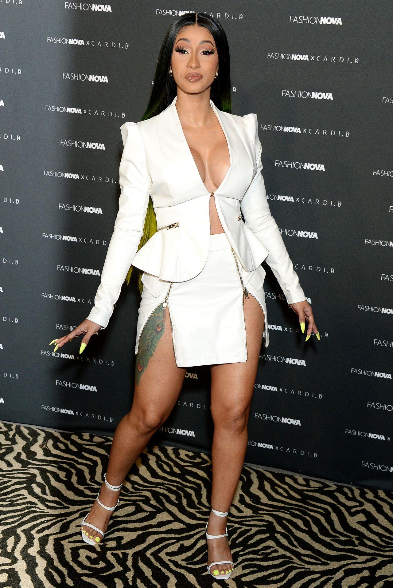 Cardi B Outfits: Fashion Nova X Cardi B Collection Launch Event