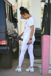 Christina Milian at a Gas Station in LA 05/23/2019